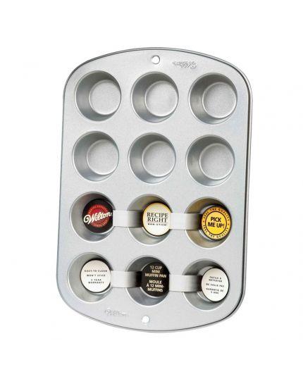Stampo Antiaderente Mini Muffin 12 Cavità Wilton