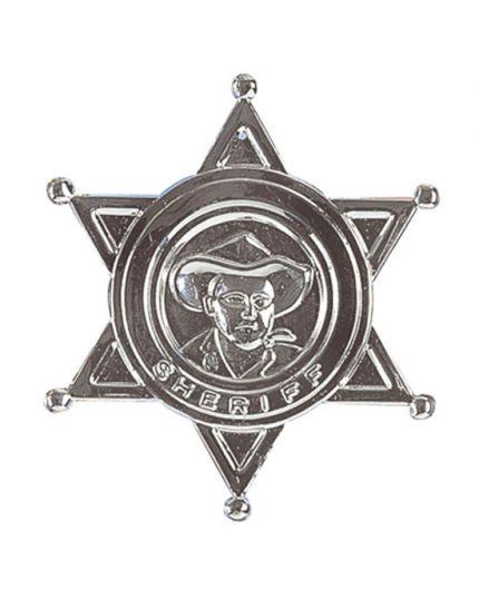 Spilla Stella Distintivo Sceriffo in Metallo 9cm