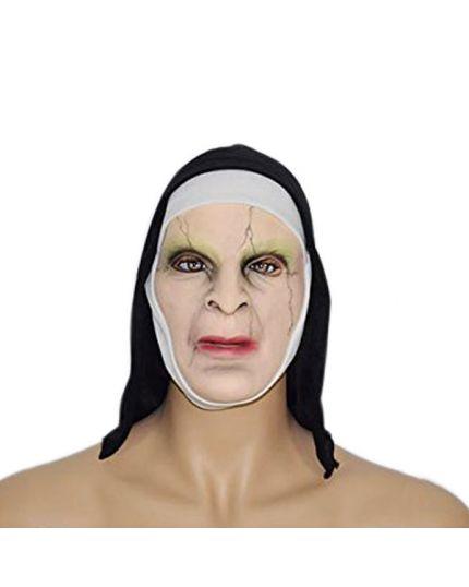 Maschera Suora Horror in Lattice con Velo