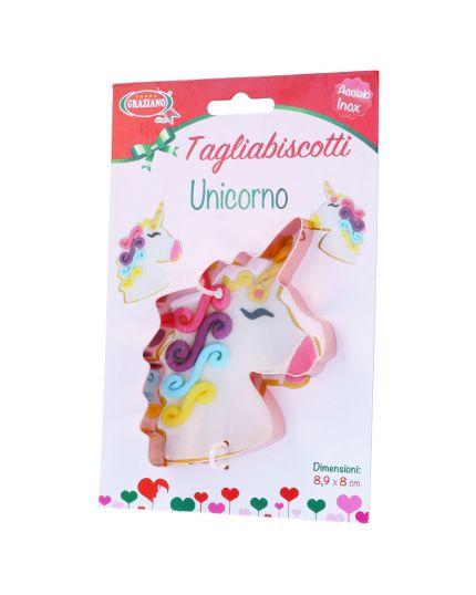 Coppapasta Tagliabiscotti Unicorno Acciaio