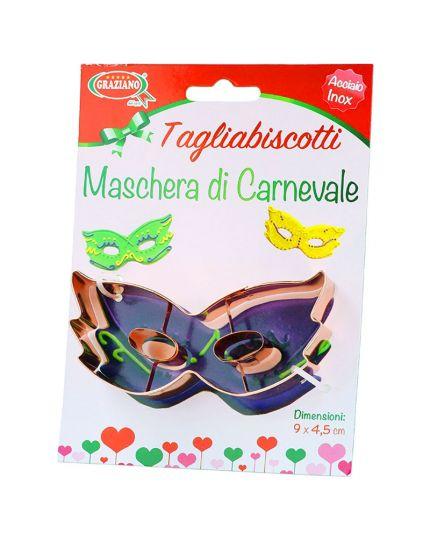 Coppapasta Tagliabiscotti Maschera Carnevale Acciaio