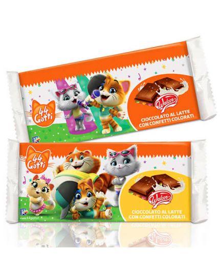 Tavoletta Cioccolato 44 Gatti con Confetti Colorati Walcor