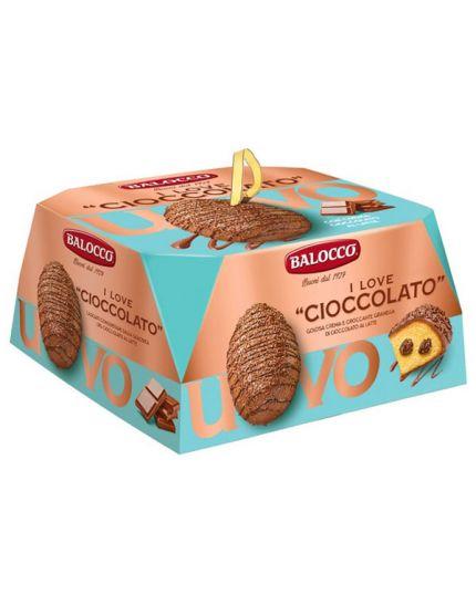 Torta Uovo I Love Cioccolato Balocco 750gr