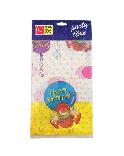 Tovaglia Pvc Happy Birthday Clown