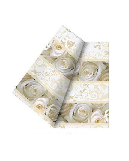 Tovaglia Carta White Roses
