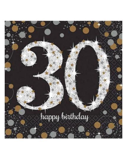 Tovaglioli Carta 30 Anni Sparkling