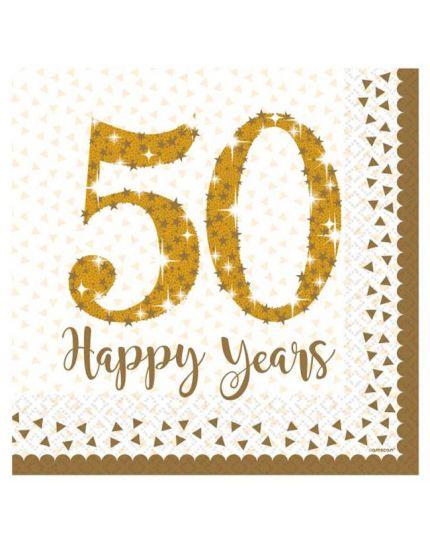Tovaglioli Carta 50 Happy Years
