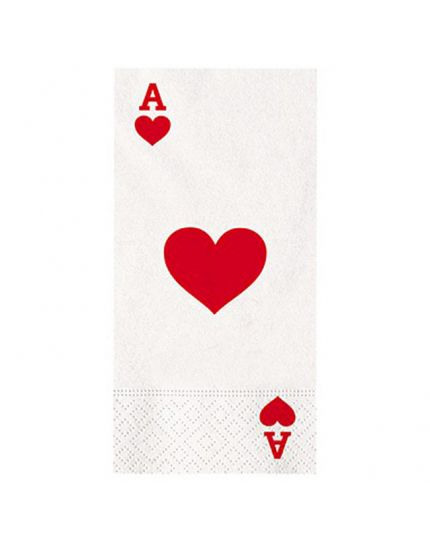 Tovaglioli Rettangolari Asso di Cuori Poker