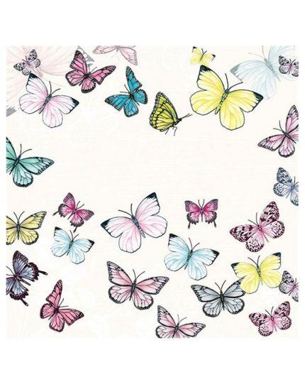 Tovaglioli Carta Butterfly White
