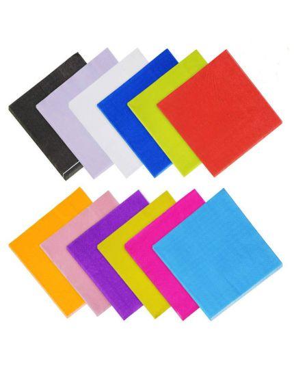 Tovaglioli Carta Tinta Unita Colors 50pz