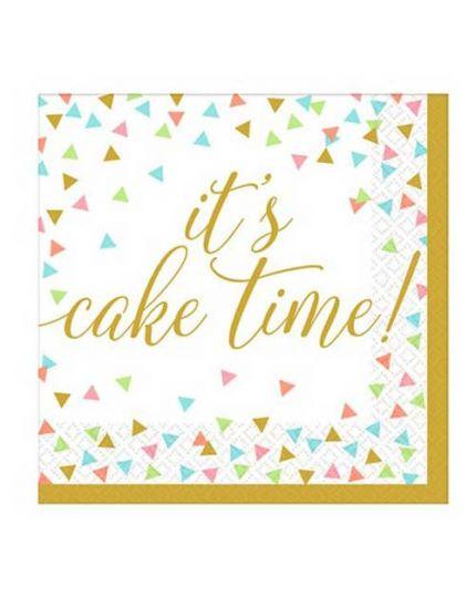 Tovaglioli Compleanno Confetti Fun It's Cake Time