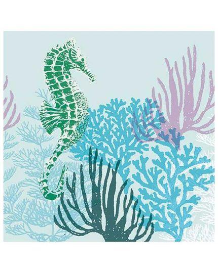 Tovaglioli Carta Coral Blue