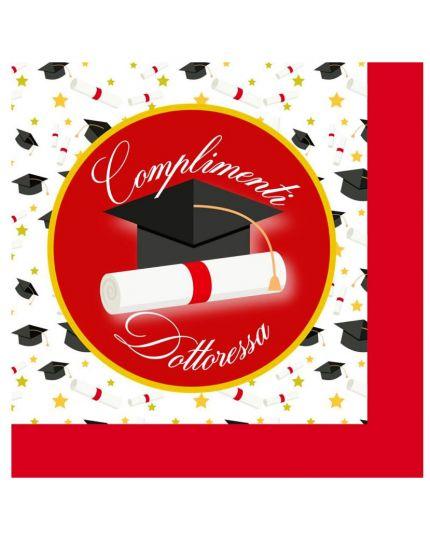 Tovaglioli Carta Laurea Complimenti Dottoressa