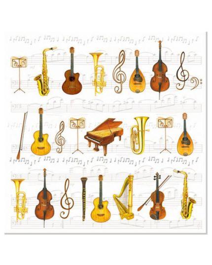 Tovaglioli Carta Orchestra Strumenti Musicali
