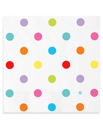 Tovaglioli Carta Pois Multicolor