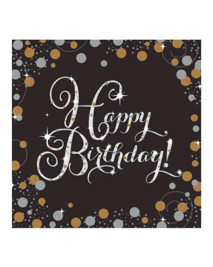 Tovaglioli Carta Happy Birthday Sparkling