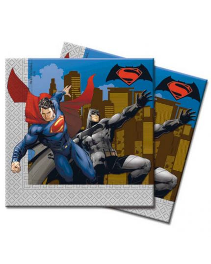 Tovaglioli Carta Batman e Superman