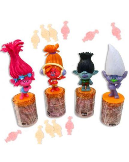 Mini Scatolina Personaggio Trolls con Caramelle