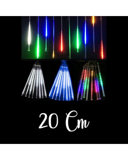Filo 10 Tubi 20cm Luci LED Ultrabrillanti da Soffitto Effetto Nevicata