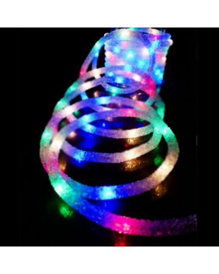Tubo Trasparente Effetto Ghiaccio con 60 Luci Multicolor 6 Metri