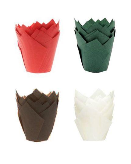 Pirottini Carta Tulipano Colorati Per Muffin 5cm