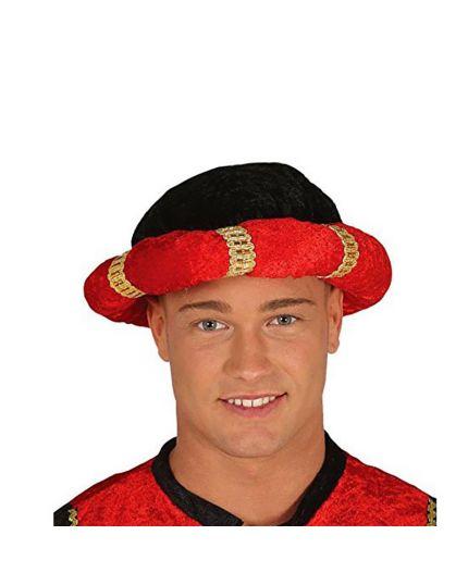 Turbante Sultano Nero Rosso