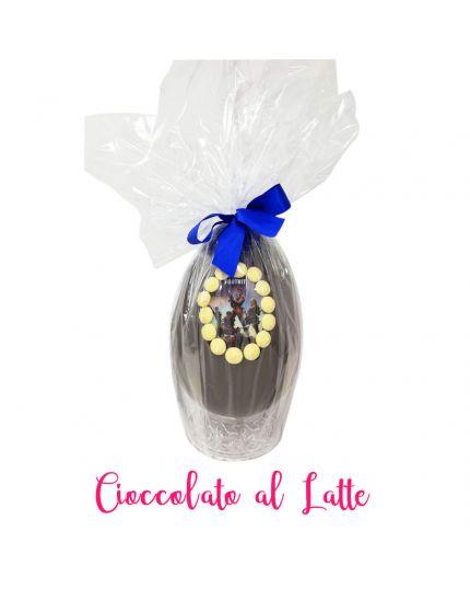 Uovo Pasqua Artigianale Fortnite Cioccolato al Latte Personalizzabile Varie Dimensioni
