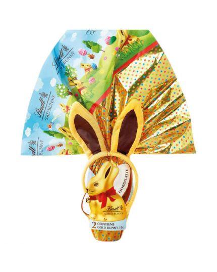 Uovo Pasqua Gold Bunny Lindt con Cerchietto 270gr