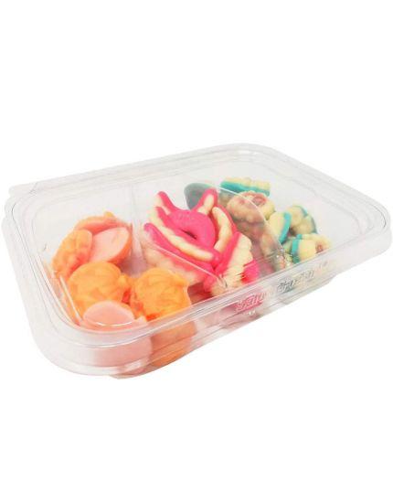 Vaschetta Caramelle Gommose e Ripiene Halloween, Zucche, Frankenstein e Denti 300gr