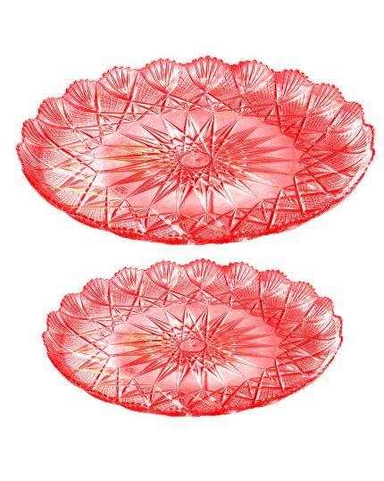 Vassoio Pvc Rotondo Trinato Rosso per Torte - Varie Dimensioni