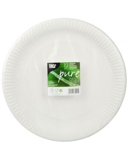 Vassoi Rotondi Carta Biodegradabile Pap Star Pure 29cm 12pz