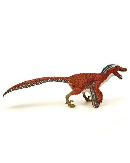 Safari Dinosauro Velociraptor Piumato 20x7cm