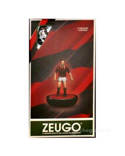 Zeugo Sqadra Speciale Rosso Nera 11 Giocatori e Portiere