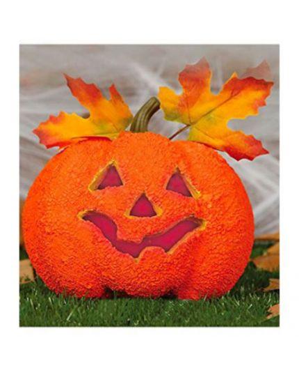 Zucca Halloween Decorativa con Luci 17cm