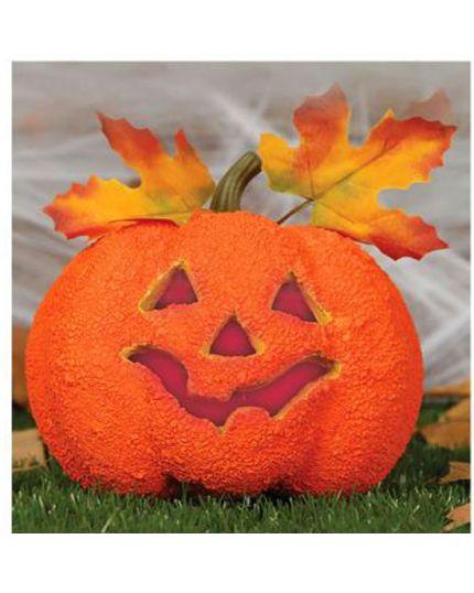 Zucca Halloween Decorativa Polistirolo con Luci 17cm