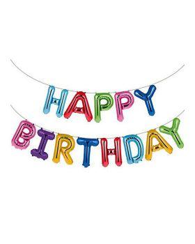 Banner Palloncini Scritta Happy Birthday