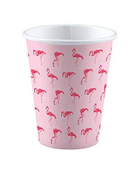 Bicchieri Carta Flamingo Paradise Fenicotteri Rosa