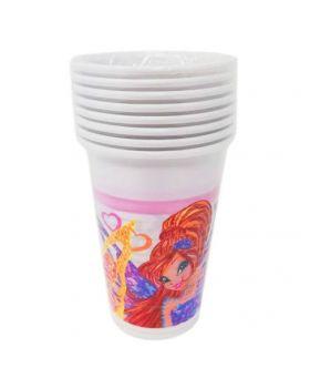 Bicchieri Plastica Winx