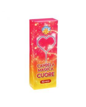 Candeline Magiche Scintillanti forma Cuore
