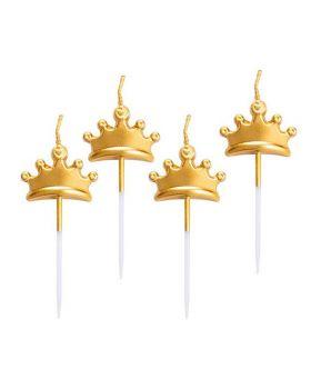 Candeline Pick Coroncine Oro
