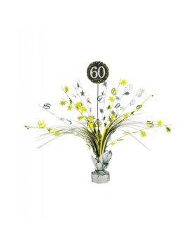 Centrotavola Happy Birthday 60 Anni Sparkling