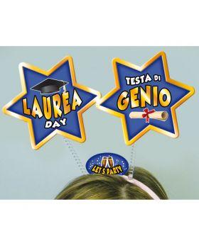 Cerchietto con Antenne Stella Laurea Day Testa di Genio