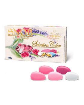 Confetti Crispo Snob Selection Color Rosa alla Mandorla 1 Kg