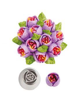 Cornetto Acciaio n. 37 Tulipano Decora