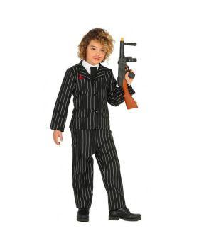 Costume Gangster Gessato Bambino