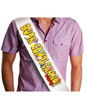 Fascia Premio Buon Compleanno Party con Palloncini