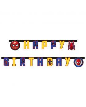 Festone Carta Spiderman Happy Birthday