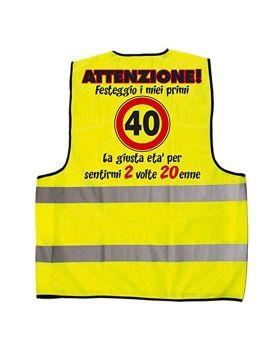 Gilet Fluorescente 40 Anni