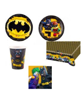 Kit Coordinato Tavola Lego - Batman per 20 Persone