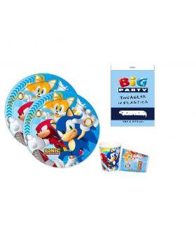 Kit Coordinato Tavola Sonic per 16 Persone